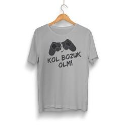 Gamer - HH - Kol Bozuk Gri T-shirt