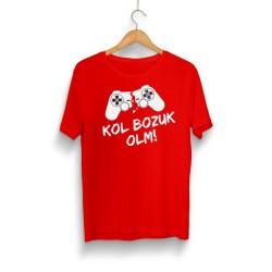 HollyHood - HollyHood - Kol Bozuk Kırmızı T-shirt