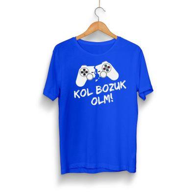 HH - Kol Bozuk Mavi T-shirt