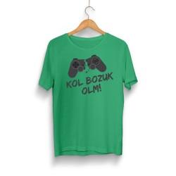 Gamer - HH - Kol Bozuk Yeşil T-shirt