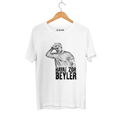 HollyHood - HollyHood - Levo Hayat Zor Beyler Beyaz T-shirt