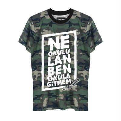 HH - Contra Ne Okulu Lan Kamuflaj T-shirt