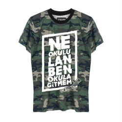 Contra - HH - Contra Ne Okulu Lan Kamuflaj T-shirt