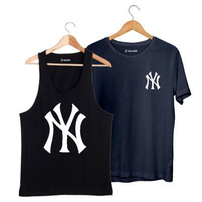 HH - NY Big Siyah Atlet + Small Lacivert T-shirt Paketi