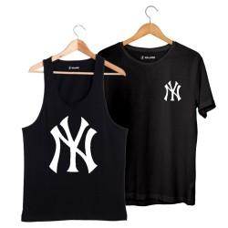 HollyHood - HH - NY Big Siyah Atlet + Small Siyah T-shirt Paketi
