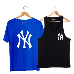 HollyHood - HH - NY Small Siyah Atlet + Big Mavi T-shirt Paketi