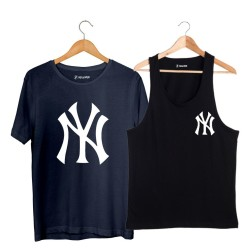 HollyHood - HH - NY Small Siyah Atlet + Big Lacivert T-shirt Paketi