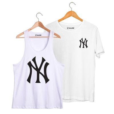 HH - NY Big Beyaz Atlet + Small Beyaz T-shirt Paketi