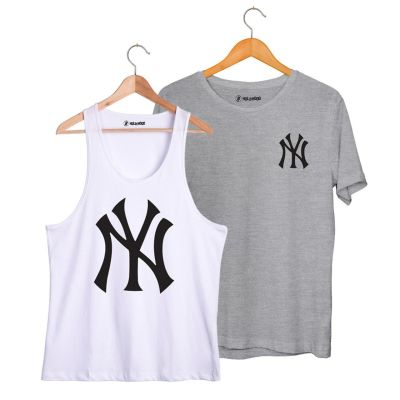 HH - NY Big Beyaz Atlet + Small Gri T-shirt Paketi