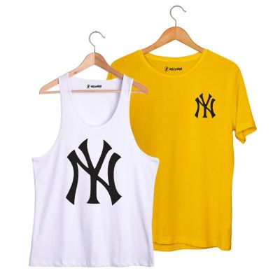 HH - NY Big Beyaz Atlet + Small Sarı T-shirt Paketi