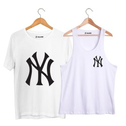 HollyHood - HollyHood - NY Small Beyaz Atlet + Big Beyaz T-shirt Paketi