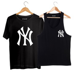 HollyHood - HollyHood - NY Small Siyah Atlet + Big Siyah T-shirt Paketi