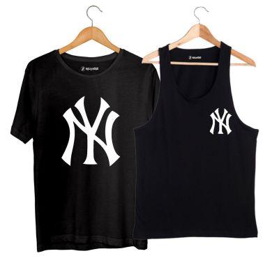HH - NY Small Siyah Atlet + Big Siyah T-shirt Paketi