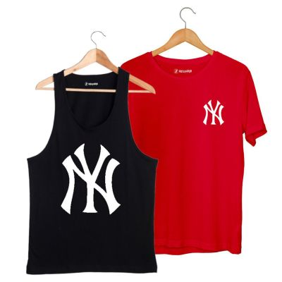 HH - NY Big Siyah Atlet + Small Kırmızı T-shirt Paketi