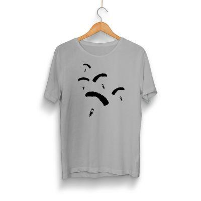 Gamer - HH - PUBG Paraşüt Gri T-shirt