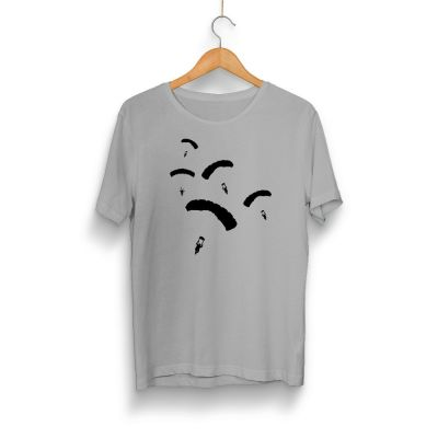 HH - PUBG Paraşüt Gri T-shirt