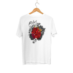 HollyHood - HollyHood - Rebel Rose Beyaz T-shirt