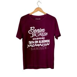 Şanışer - HH - Şanışer Yazamazsın Bordo T-shirt