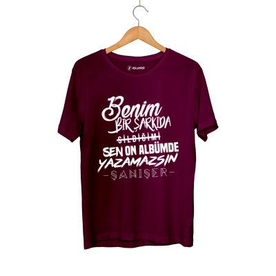 HH - Şanışer Yazamazsın Bordo T-shirt