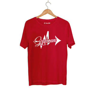HH - Sokrat Grafomani Kırmızı T-shirt
