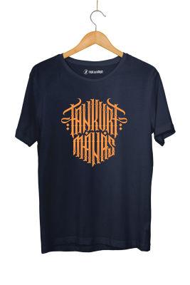 HH - Tankurt Manas Tipografi Lacivert T-shirt