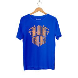 Tankurt Manas - HH - Tankurt Manas Tipografi Mavi T-shirt