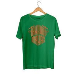 Tankurt Manas - HH - Tankurt Manas Tipografi Yeşil T-shirt