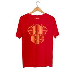 Tankurt Manas - HollyHood - Tankurt Manas Tipografi Kırmızı T-shirt
