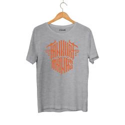 Tankurt Manas - HH - Tankurt Manas Tipografi Gri T-shirt