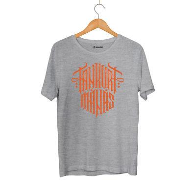 HH - Tankurt Manas Tipografi Gri T-shirt