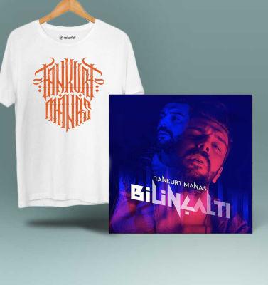 HH - Tankurt Manas Tipografi Beyaz T-shirt + Albüm (Özel Paket)