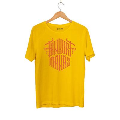 HH - Tankurt Manas Tipografi Sarı T-shirt