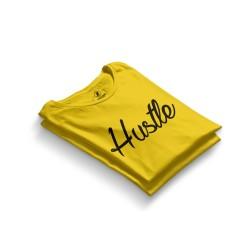 HH - Hustle Sarı T-shirt - Thumbnail