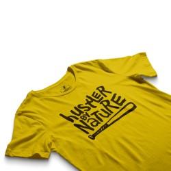 HH - Hustler By Nature Sarı T-shirt - Thumbnail