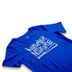 HH - Hustler By Nature Mavi T-shirt - Thumbnail