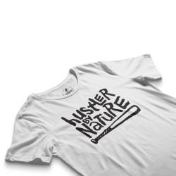 HH - Hustler By Nature Beyaz T-shirt - Thumbnail