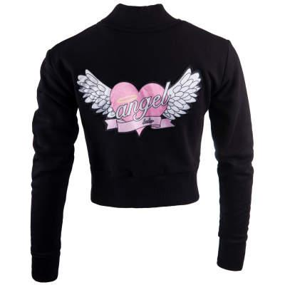 Hyper X - Angel Crop Top Siyah Kolej Ceket