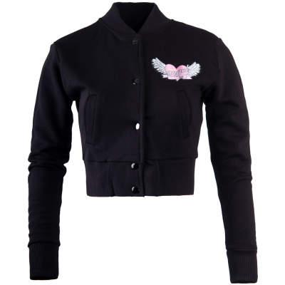 Hyper X - Hyper X - Angel Crop Top Siyah Kolej Ceket