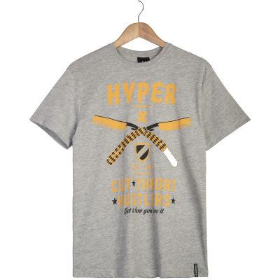 Hyper X - Cut Gri T-shirt