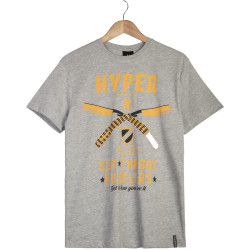 Hyper X - Hyper X - Cut Gri T-shirt