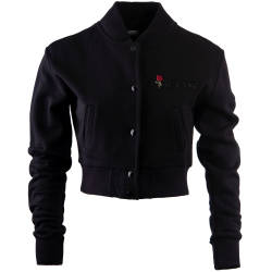 Hyper X - Hyper X - Girl Gang Crop Top Siyah Kolej Ceket