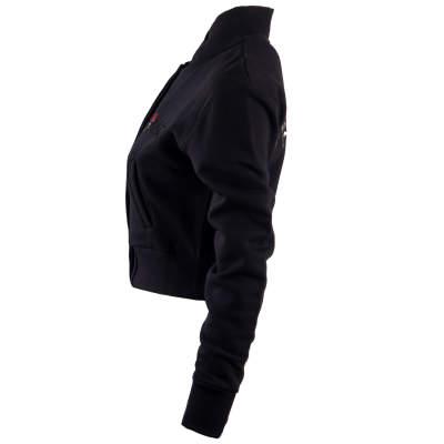 Hyper X - Girl Gang Crop Top Siyah Kolej Ceket