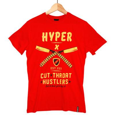 Hyper X - Cut Kırmızı T-shirt