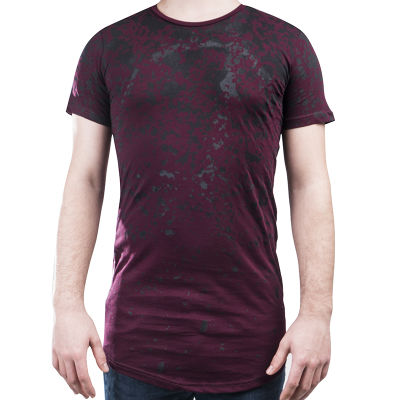 Ilann Five Zipper Bordo T-shirt