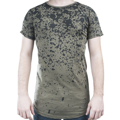 Ilann Five Zipper Haki T-shirt