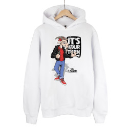 High - HH - High Its Your Turn Beyaz Hoodie