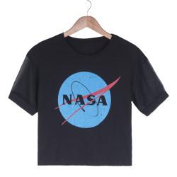 HollyHood - NASA Kadın Siyah T-shirt