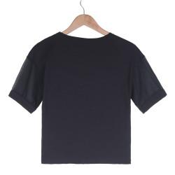 NASA Kadın Siyah T-shirt - Thumbnail