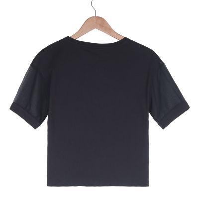 NASA Kadın Siyah T-shirt