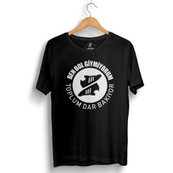 HH - Joker Toplum Dar Bakıyor Siyah T-shirt - Thumbnail